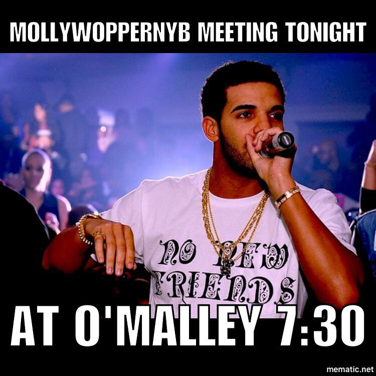 #mollywoppersnyb meeting tonight 730pm at o'malley club. Let's talk the good, the bad, and the ugly of this years parade. If you marched this year come grab a shirt and drink some beers. #mummers #Philadelphia #loudchallenge #353daystogo  #nonewfriends #nonewrecruits  The shirt is on @bingwithoutthebeard's page