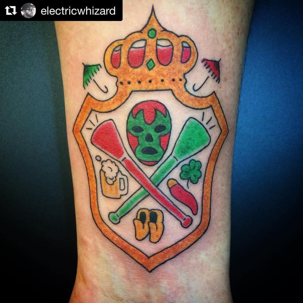 Calling all #MollywoppersNYB. We are meeting Wednesday 7:30 at O'Malley's. Lots to talk about. We're just about 4 months away. See ya there!  #Repost @electricwhizard ・・・ Lil tattoo on the homie Chad who came all the way from Australia to march with @mollywoppersnyb #mollywoppersnyb #kingsofdrinkingbeer
