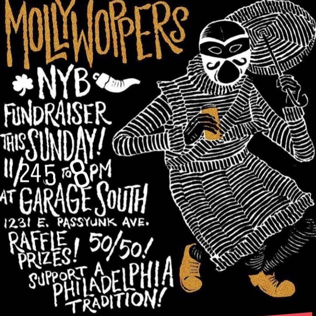 Come out to @garagephilly Sunday from 5 to 8 for our annual FUNdraiser! #MollyWoppersNYB