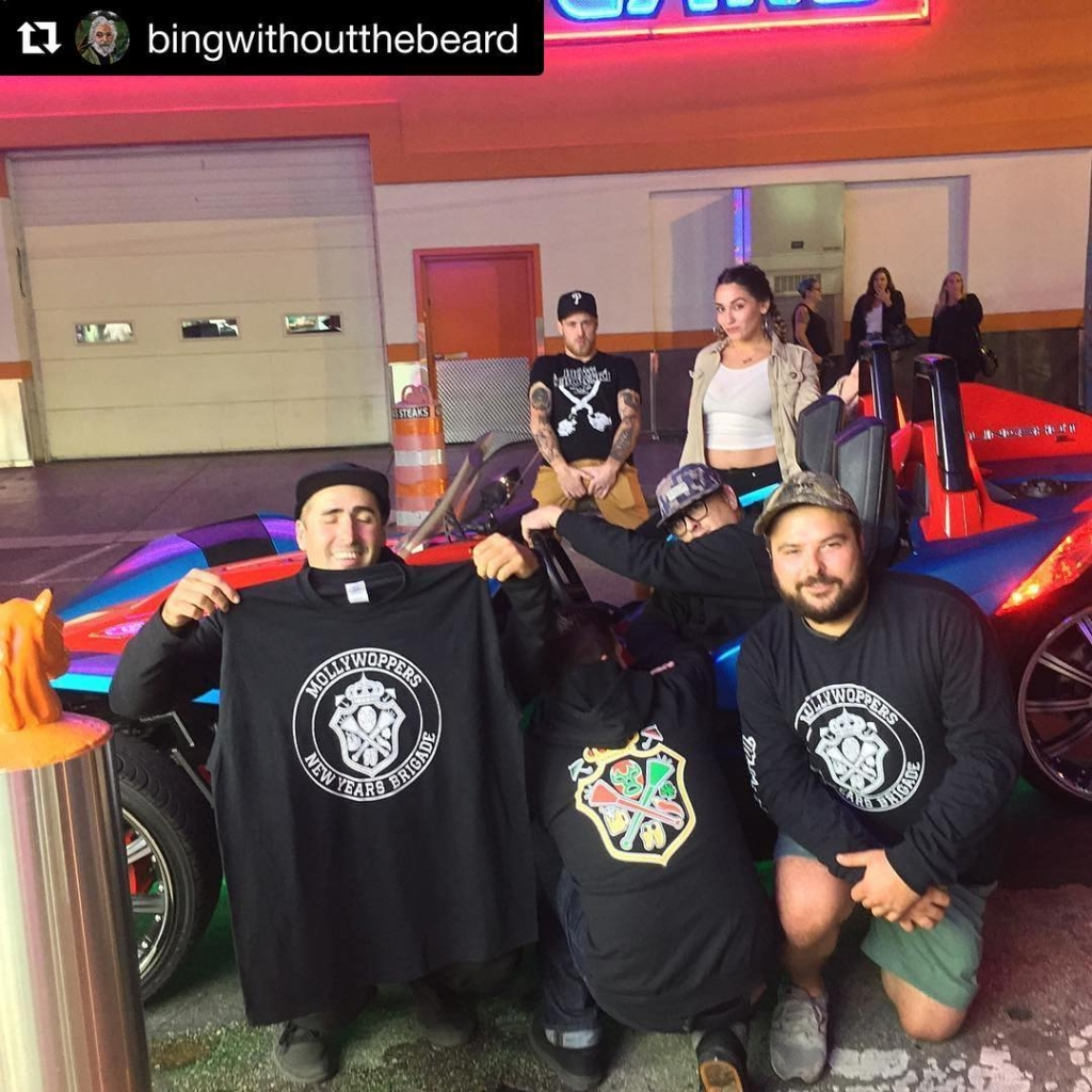 Thank you all so much for coming out and supporting the MollyWoppersNYB @garagephilly yesterday.  #Repost @bingwithoutthebeard ・・・ Big thanks to everyone who came out yesterday to support #mollywoppersnyb #skrrt #polarisslingshot #3wheelcheckmeout #mummers